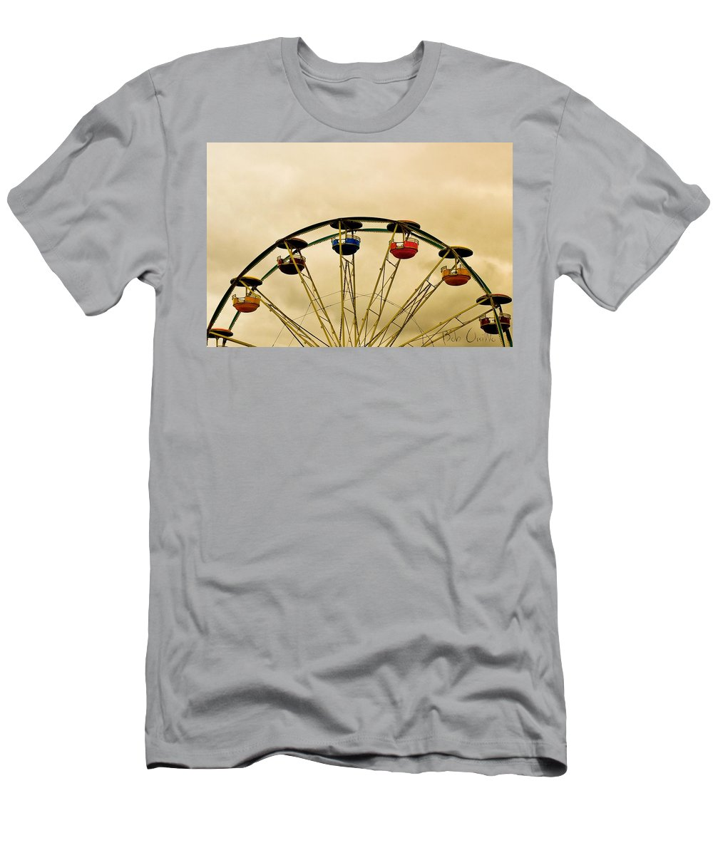 Carnival Men's T-Shirt (Athletic Fit) featuring the photograph Empty Seats by Bob Orsillo