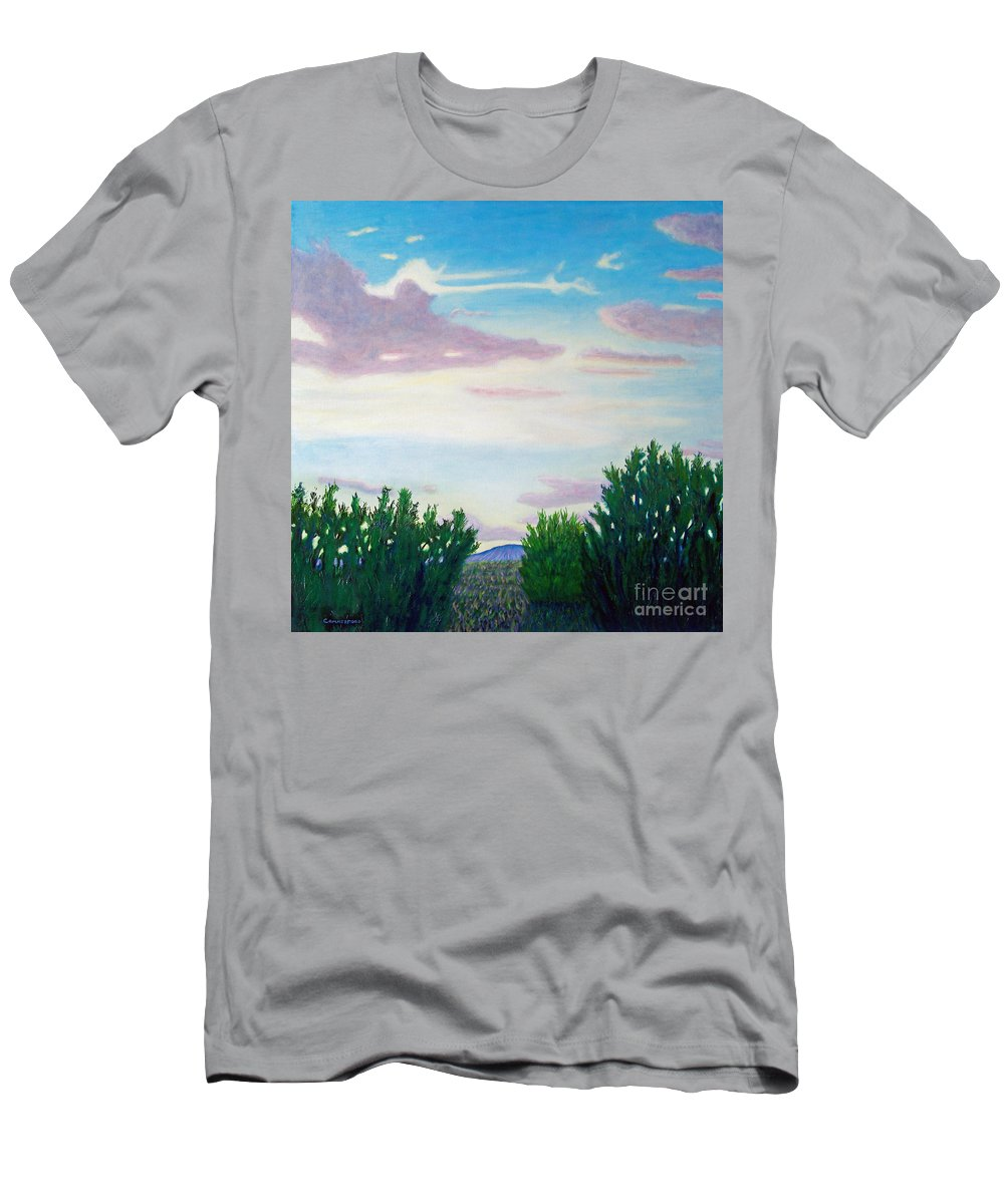Landscape Men's T-Shirt (Athletic Fit) featuring the painting Enchanted Land by Brian Commerford
