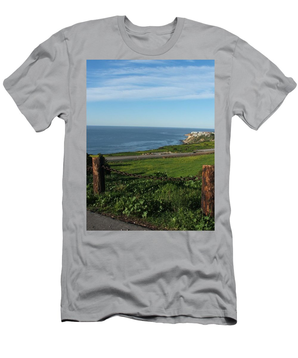 Ocean Men's T-Shirt (Athletic Fit) featuring the photograph Enjoying The View by Shari Chavira