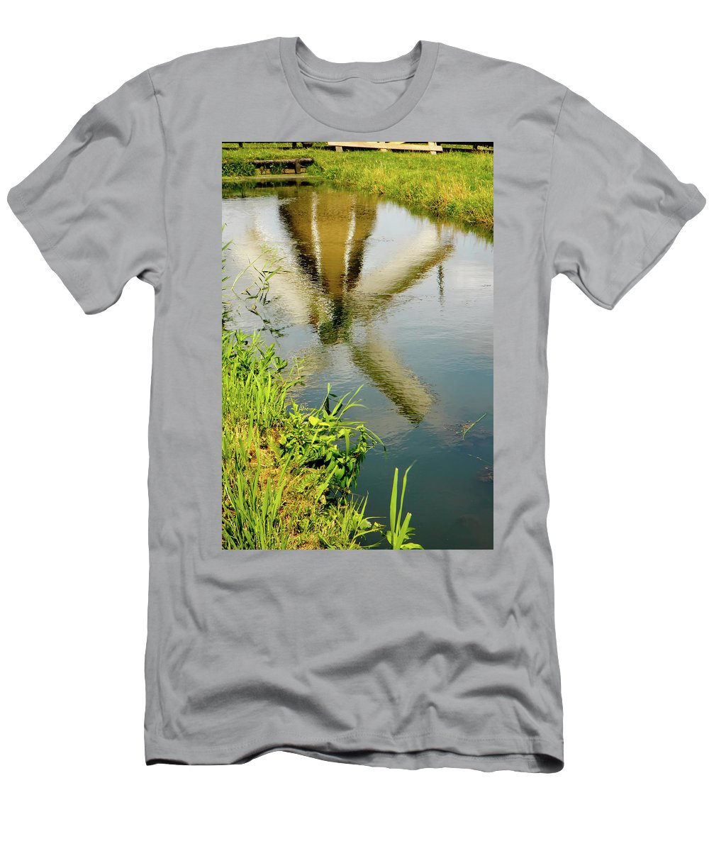 Enkhuizen Men's T-Shirt (Athletic Fit) featuring the photograph Enkhuizen Windmill by KG Thienemann