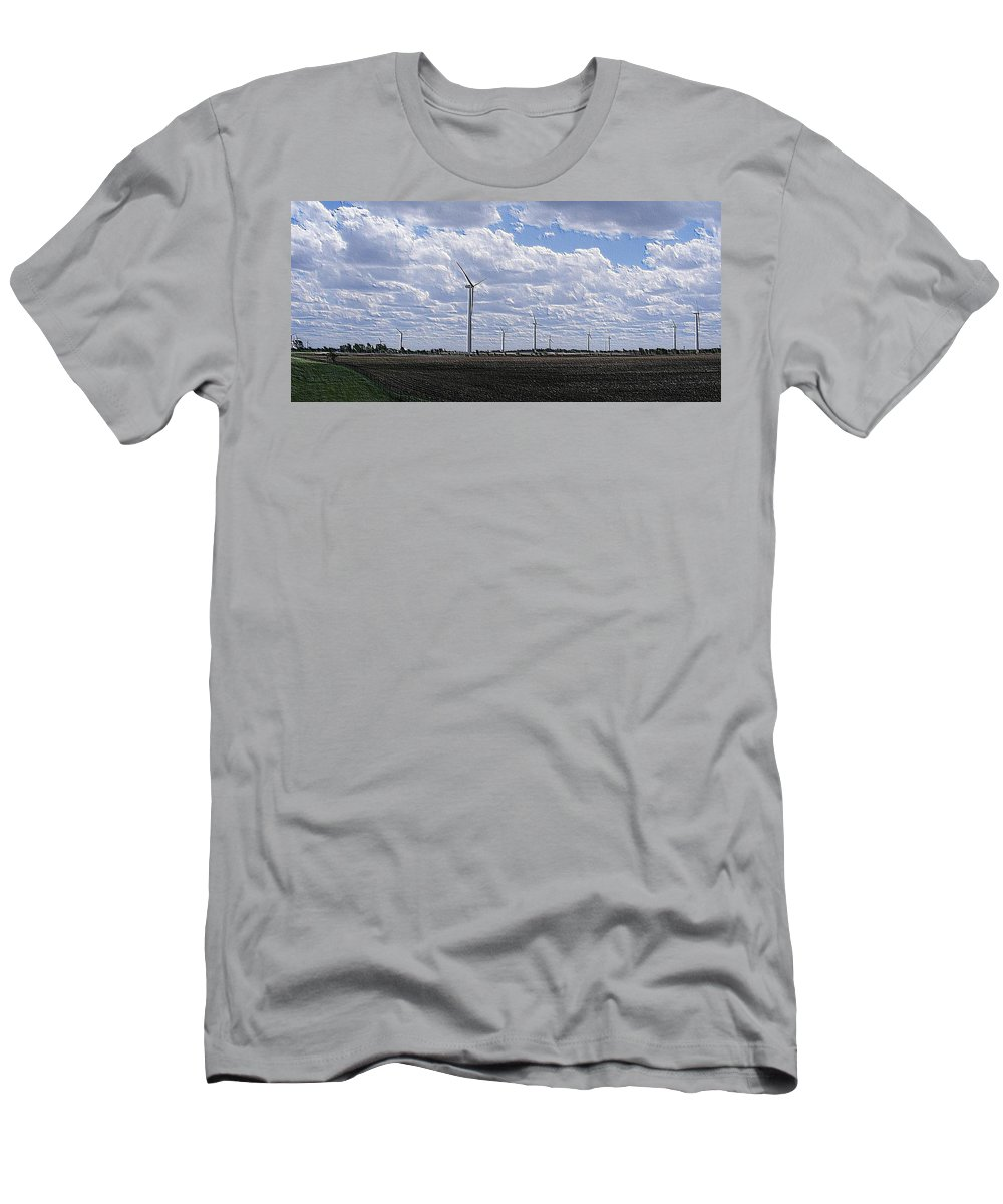 Wind Men's T-Shirt (Athletic Fit) featuring the photograph Etched In Stone by Ed Smith