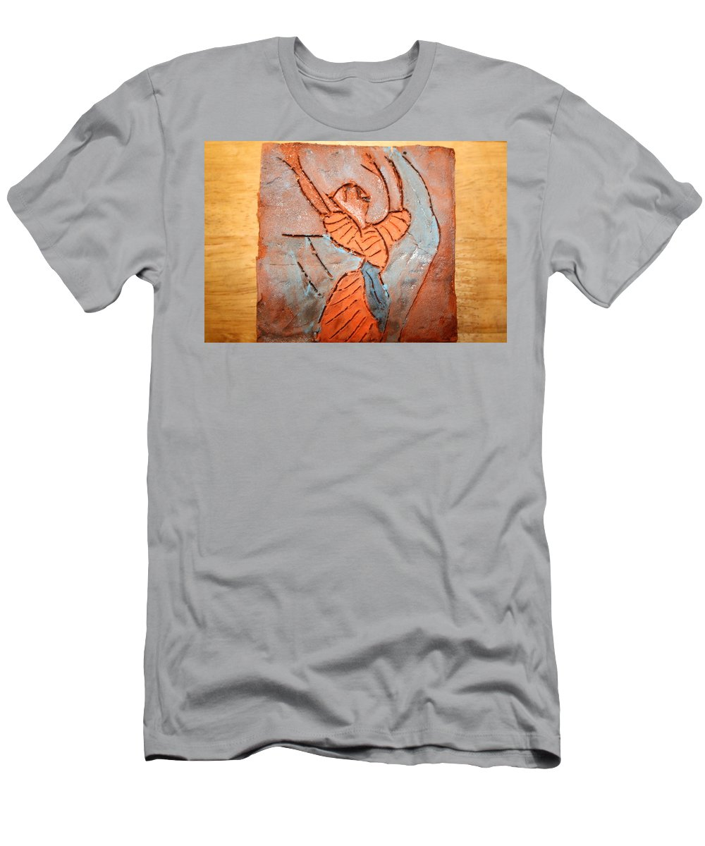 Jesus Men's T-Shirt (Athletic Fit) featuring the ceramic art Exclaim - Tile by Gloria Ssali