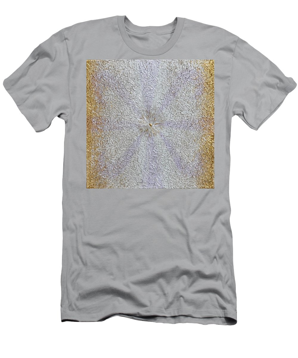 Abstract Painting Men's T-Shirt (Athletic Fit) featuring the painting Expansion by Georgeta Blanaru