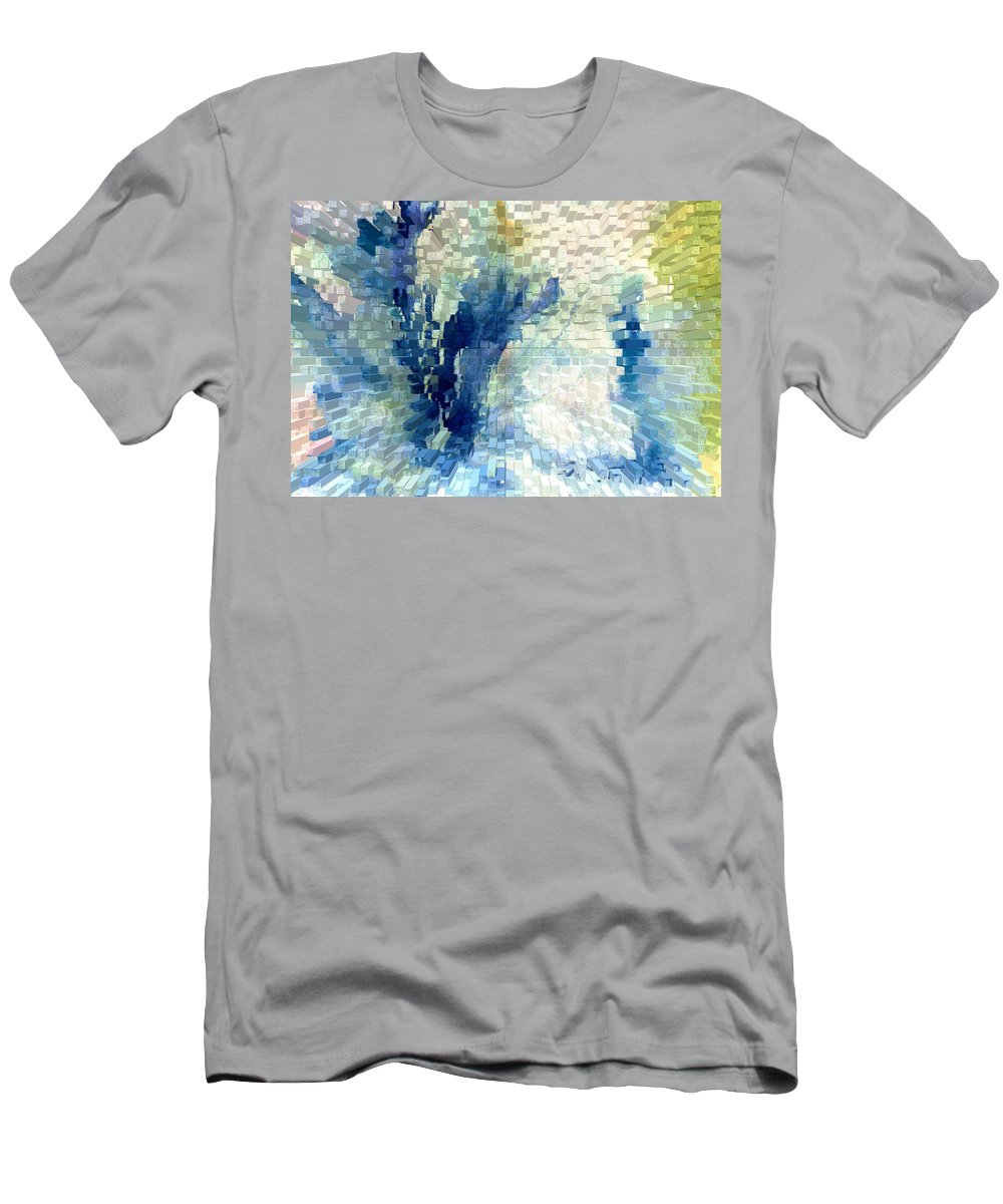 Abstract Men's T-Shirt (Athletic Fit) featuring the painting Extrude by Steve Karol