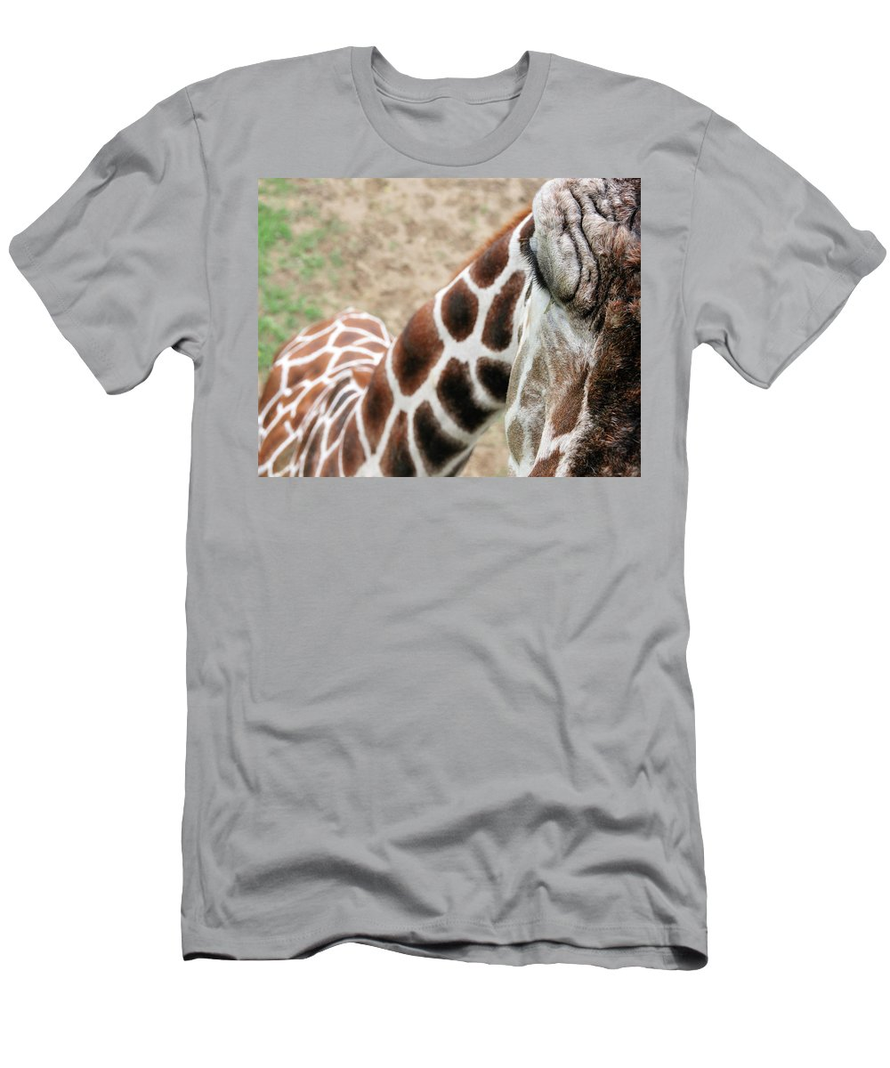 Giraffe Men's T-Shirt (Athletic Fit) featuring the photograph Eye Of The Giraffe. by David Arment