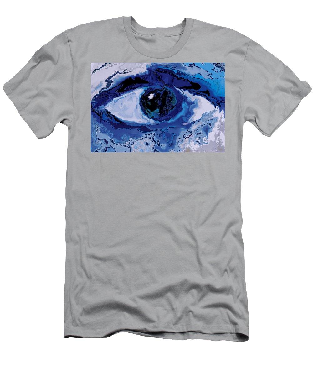 Eye Men's T-Shirt (Athletic Fit) featuring the digital art Eye by Rabi Khan