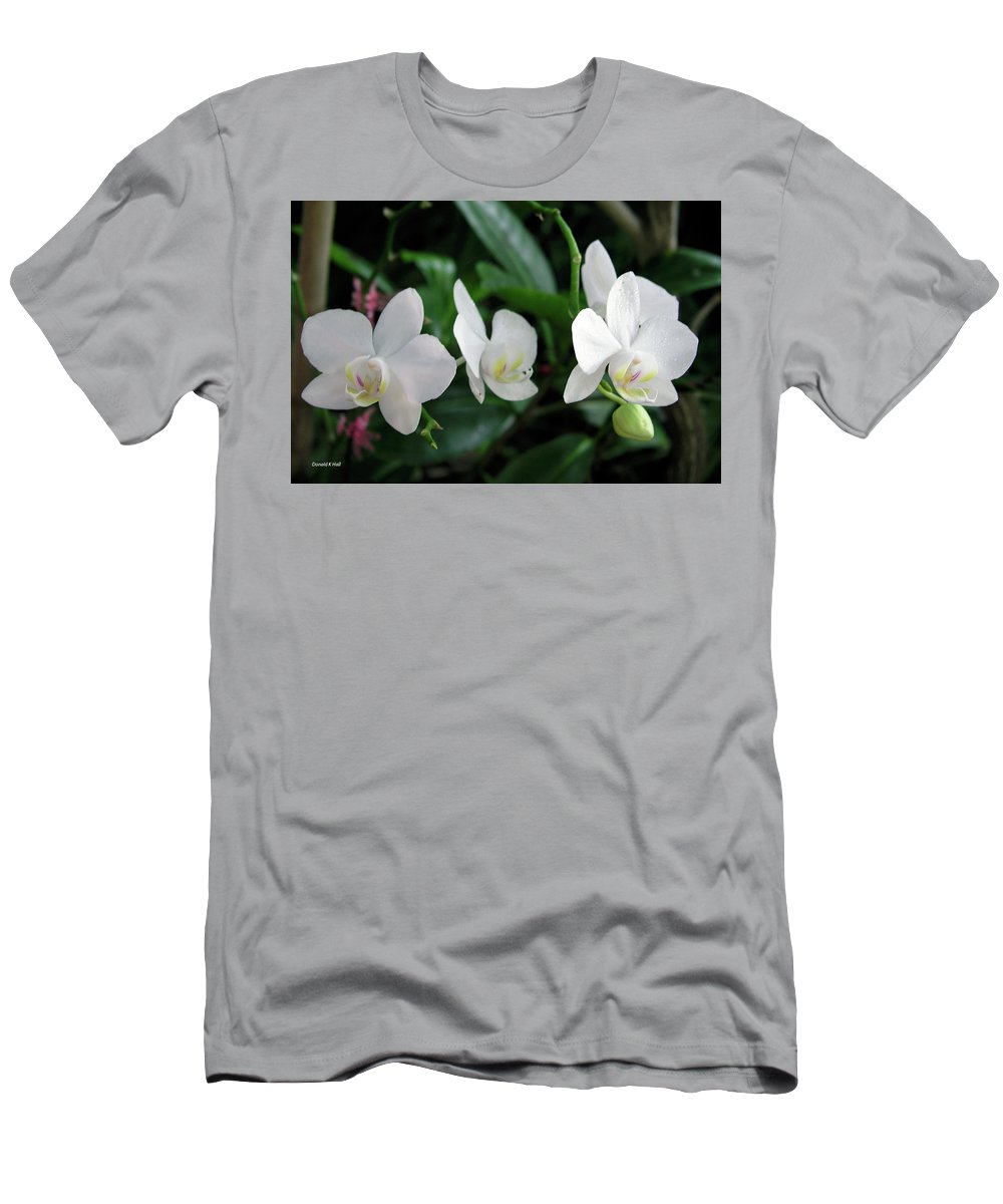 Orchids Men's T-Shirt (Athletic Fit) featuring the photograph F11 Orchid Flowers by Donald k Hall