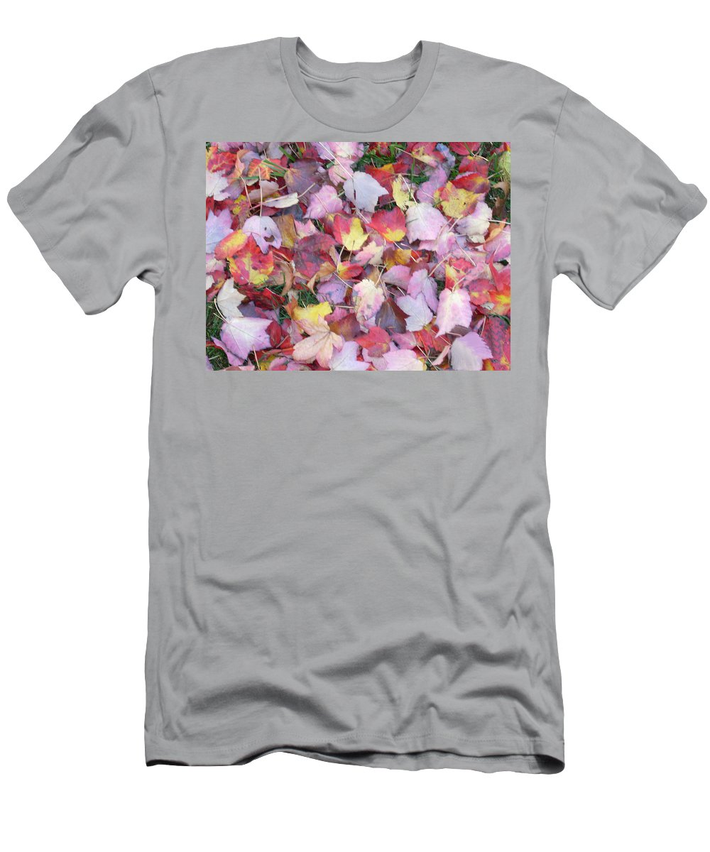 Men's T-Shirt (Athletic Fit) featuring the photograph Fall Carpet by Karin Dawn Kelshall- Best