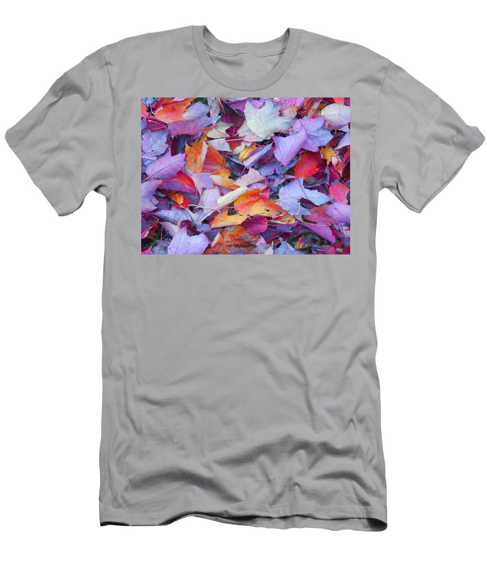 Men's T-Shirt (Athletic Fit) featuring the photograph Fall Purples by Karin Dawn Kelshall- Best