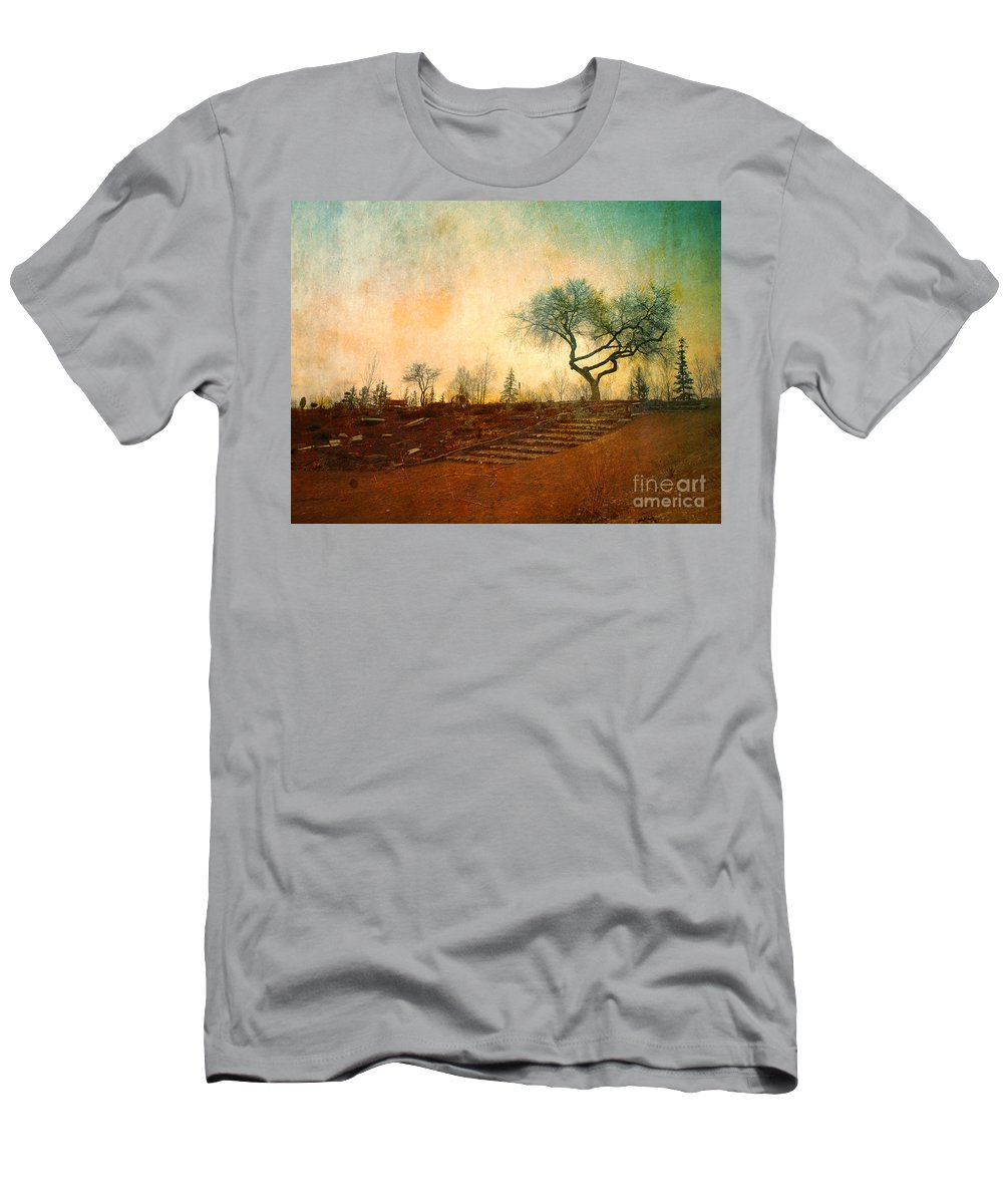Tree Men's T-Shirt (Athletic Fit) featuring the photograph Familiar Like Home by Tara Turner