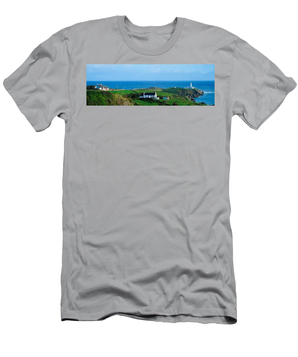 19th Century Men's T-Shirt (Athletic Fit) featuring the photograph Fanad Lighthouse, Fanad, County Donegal by The Irish Image Collection