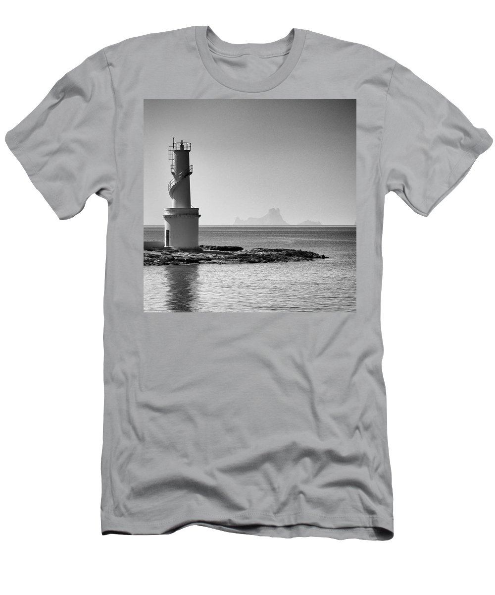 Balearics T-Shirt featuring the photograph Far De La Savina Lighthouse, Formentera by John Edwards