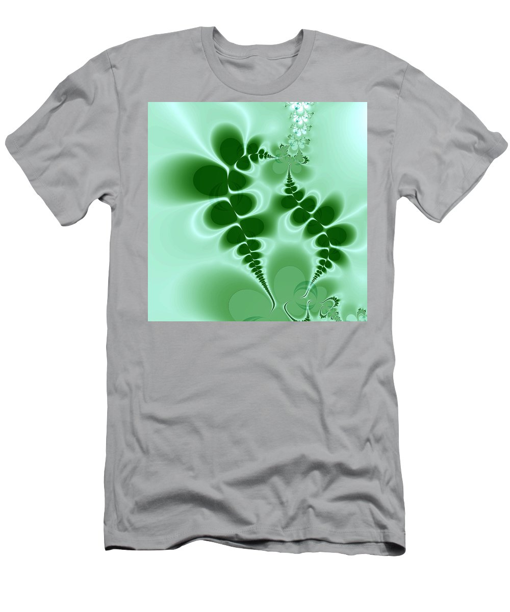 Digital Art Men's T-Shirt (Athletic Fit) featuring the digital art Ferns by Amanda Moore