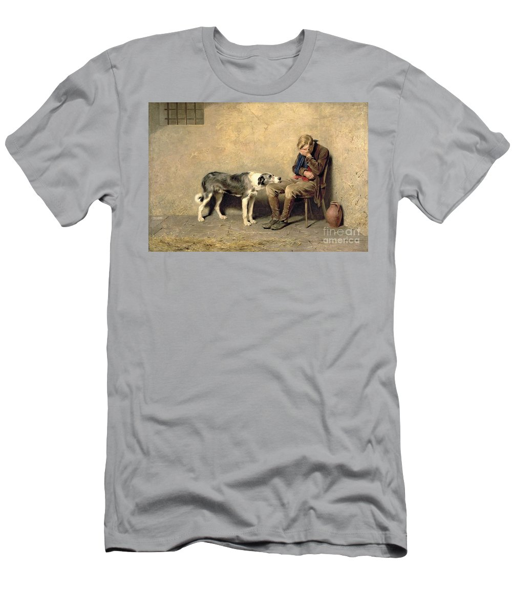 Fidelity T-Shirt featuring the painting Fidelity by Briton Riviere