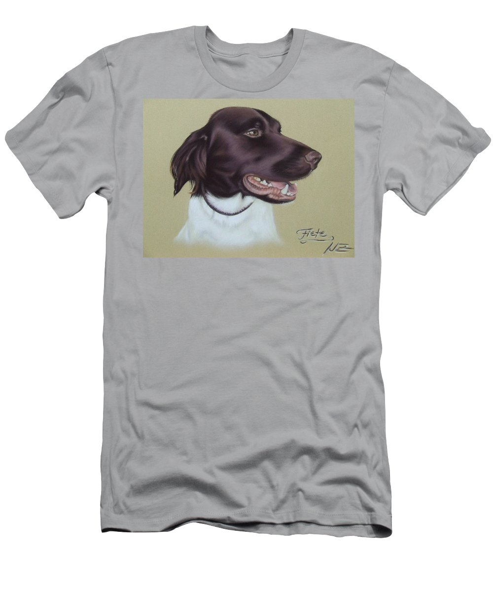 Dog Men's T-Shirt (Athletic Fit) featuring the pastel Fiete by Nicole Zeug