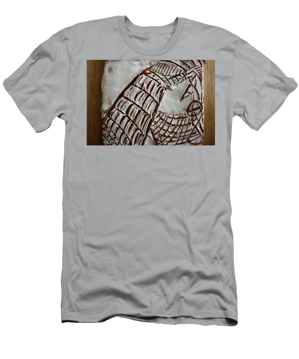Jesus Men's T-Shirt (Athletic Fit) featuring the ceramic art Fight For This Love - Tile by Gloria Ssali
