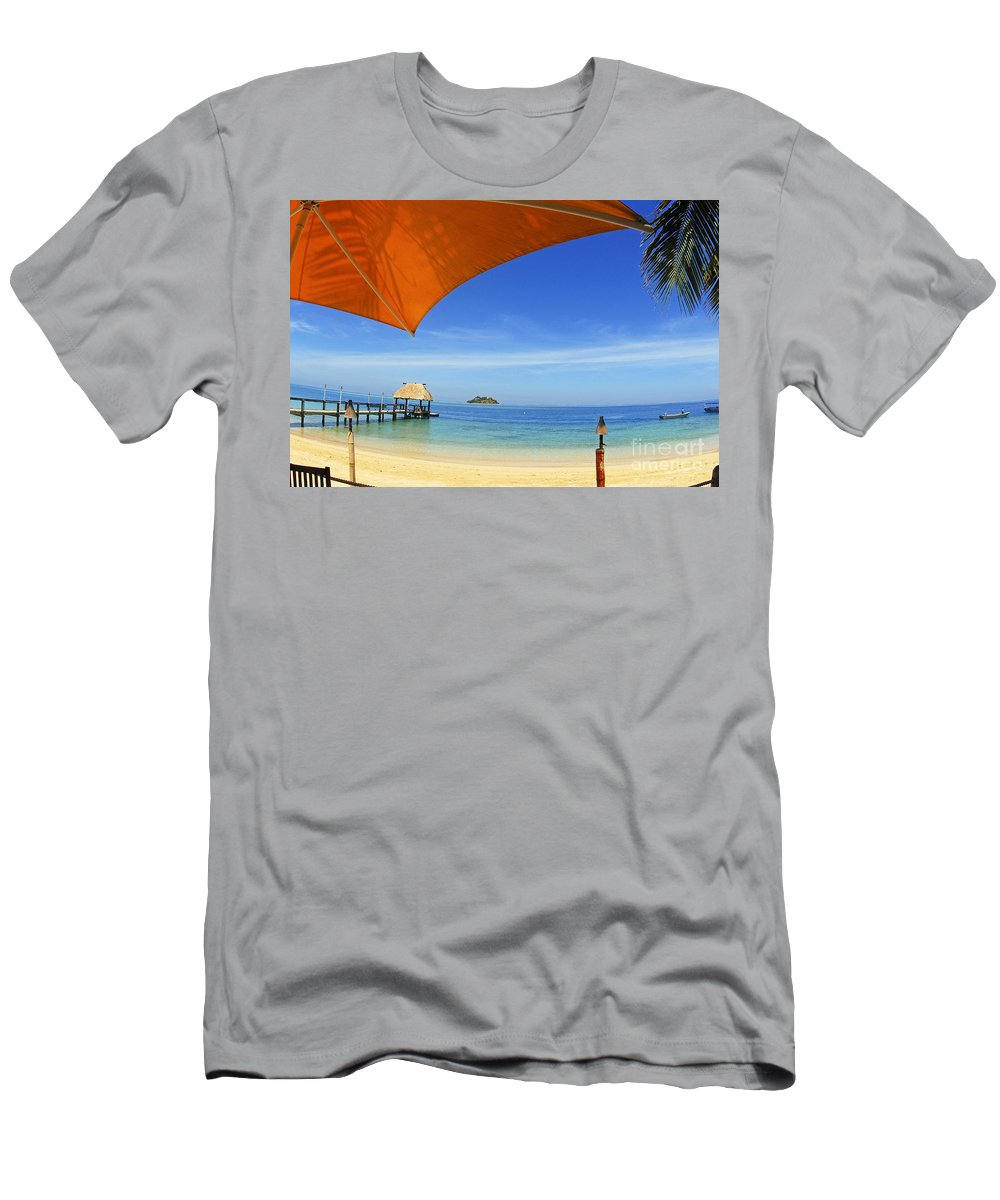 Afternoon Men's T-Shirt (Athletic Fit) featuring the photograph Fiji, Malolo Island by Himani - Printscapes