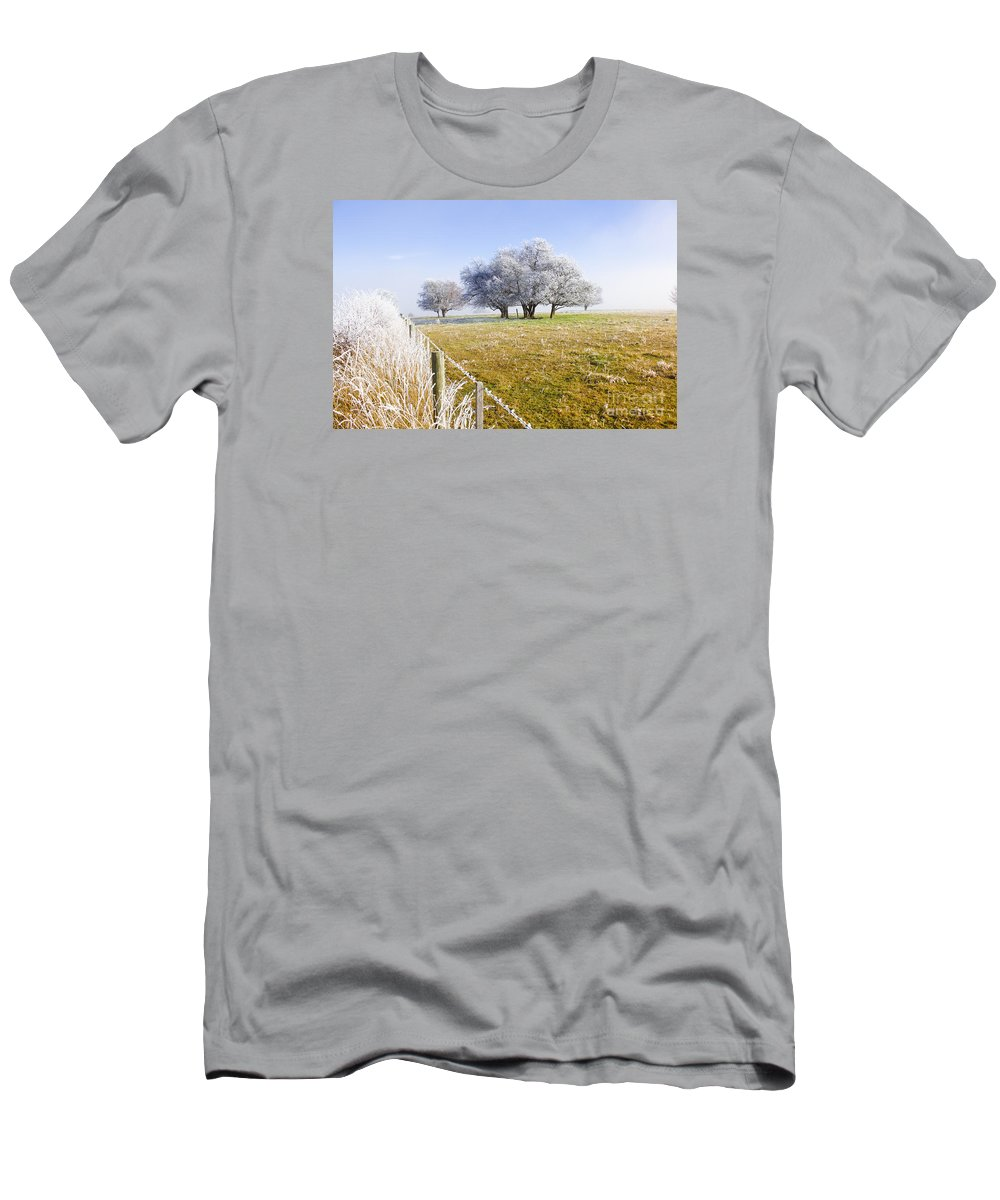 Artistic Men's T-Shirt (Athletic Fit) featuring the photograph Fine Art Winter Scene by Jorgo Photography - Wall Art Gallery