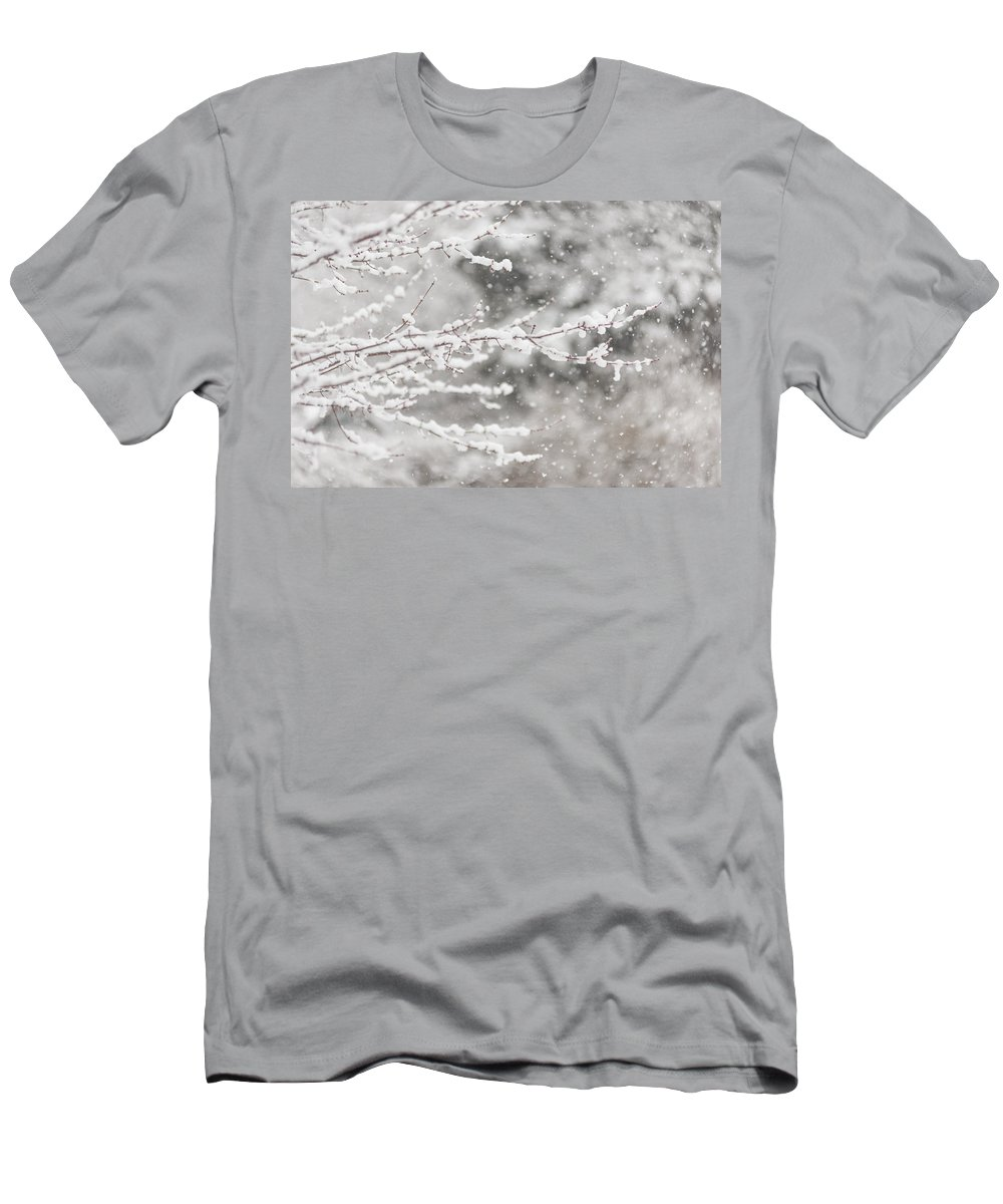 Terry Deluco Men's T-Shirt (Athletic Fit) featuring the photograph First Day Of Spring 2015 New Jersey by Terry DeLuco