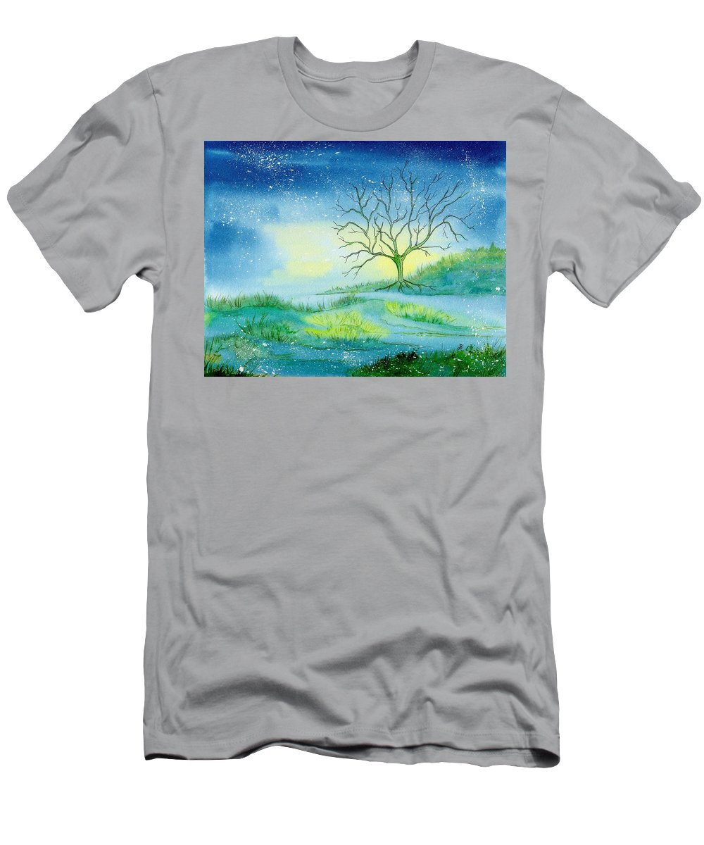Watercolor Men's T-Shirt (Athletic Fit) featuring the painting First Light by Brenda Owen