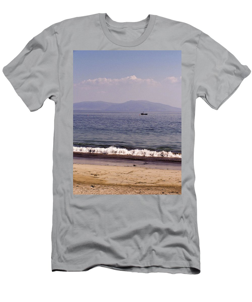 Irish Men's T-Shirt (Athletic Fit) featuring the photograph Fishing Boat On Ventry Harbor Ireland by Teresa Mucha