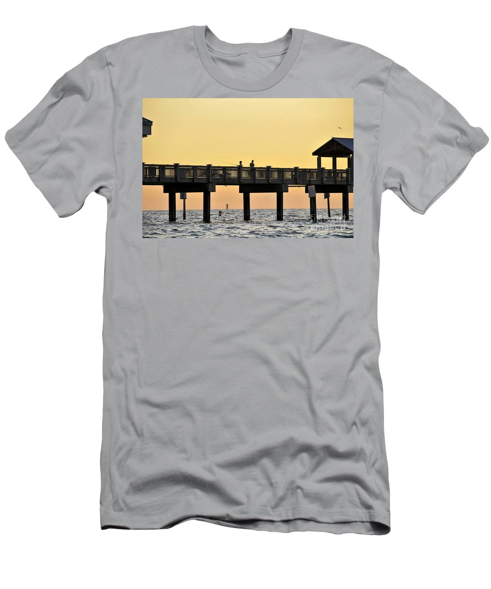 Fishing Men's T-Shirt (Athletic Fit) featuring the photograph Fishing Friends by David Lee Thompson