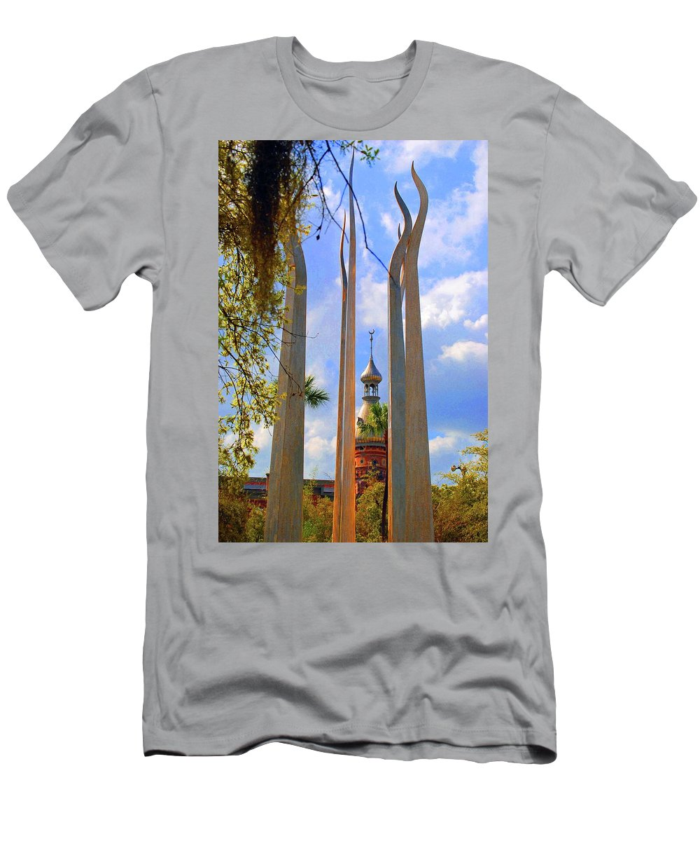 University Of Tampa Men's T-Shirt (Athletic Fit) featuring the photograph flame of the Sky by Jost Houk