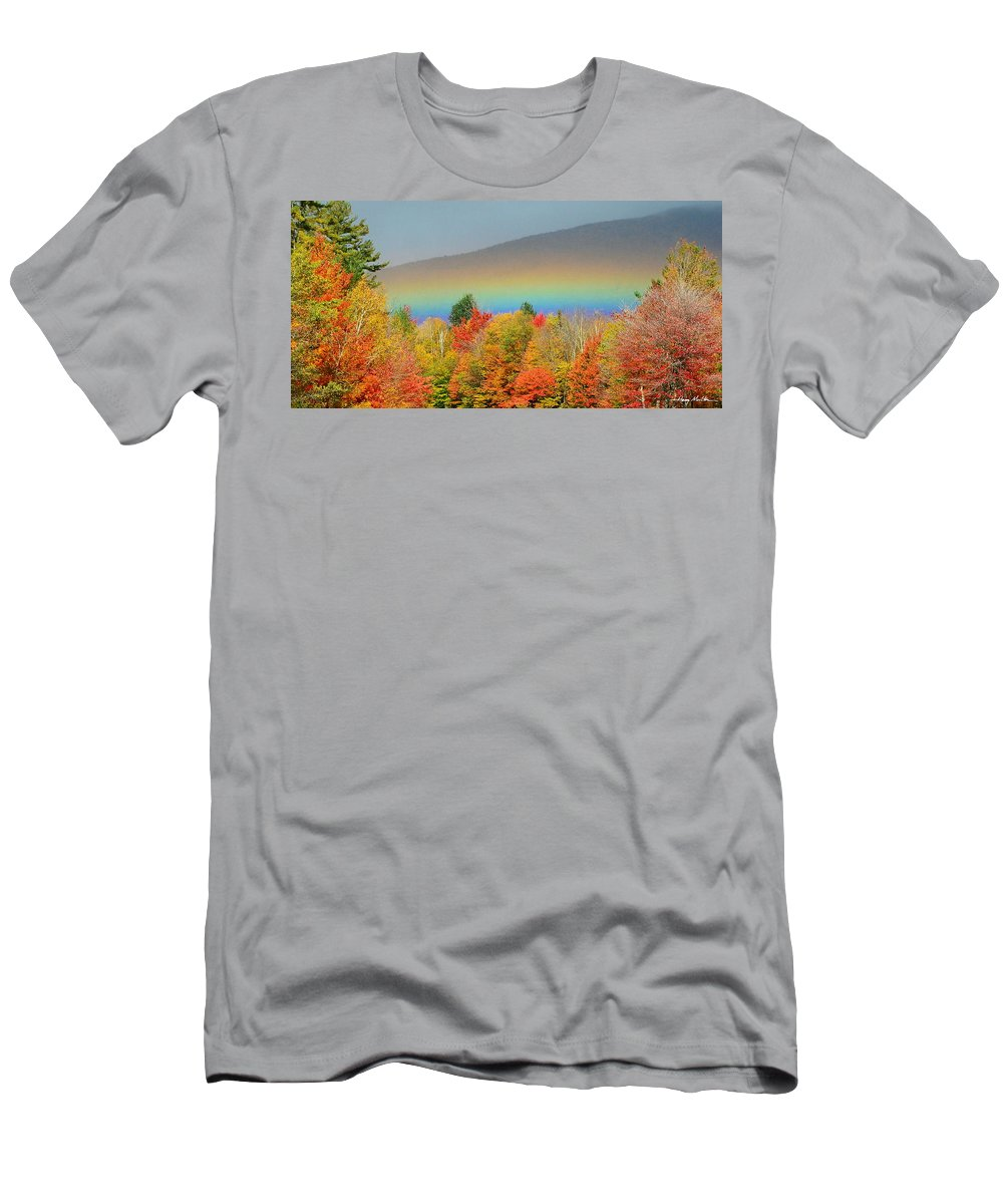 Rainbow Men's T-Shirt (Athletic Fit) featuring the photograph Flat Rainbow by Harry Moulton