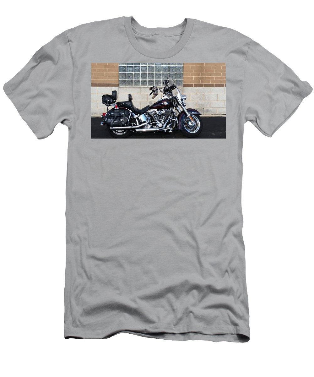 Harley Men's T-Shirt (Athletic Fit) featuring the photograph Flhstc by Cliff Ball