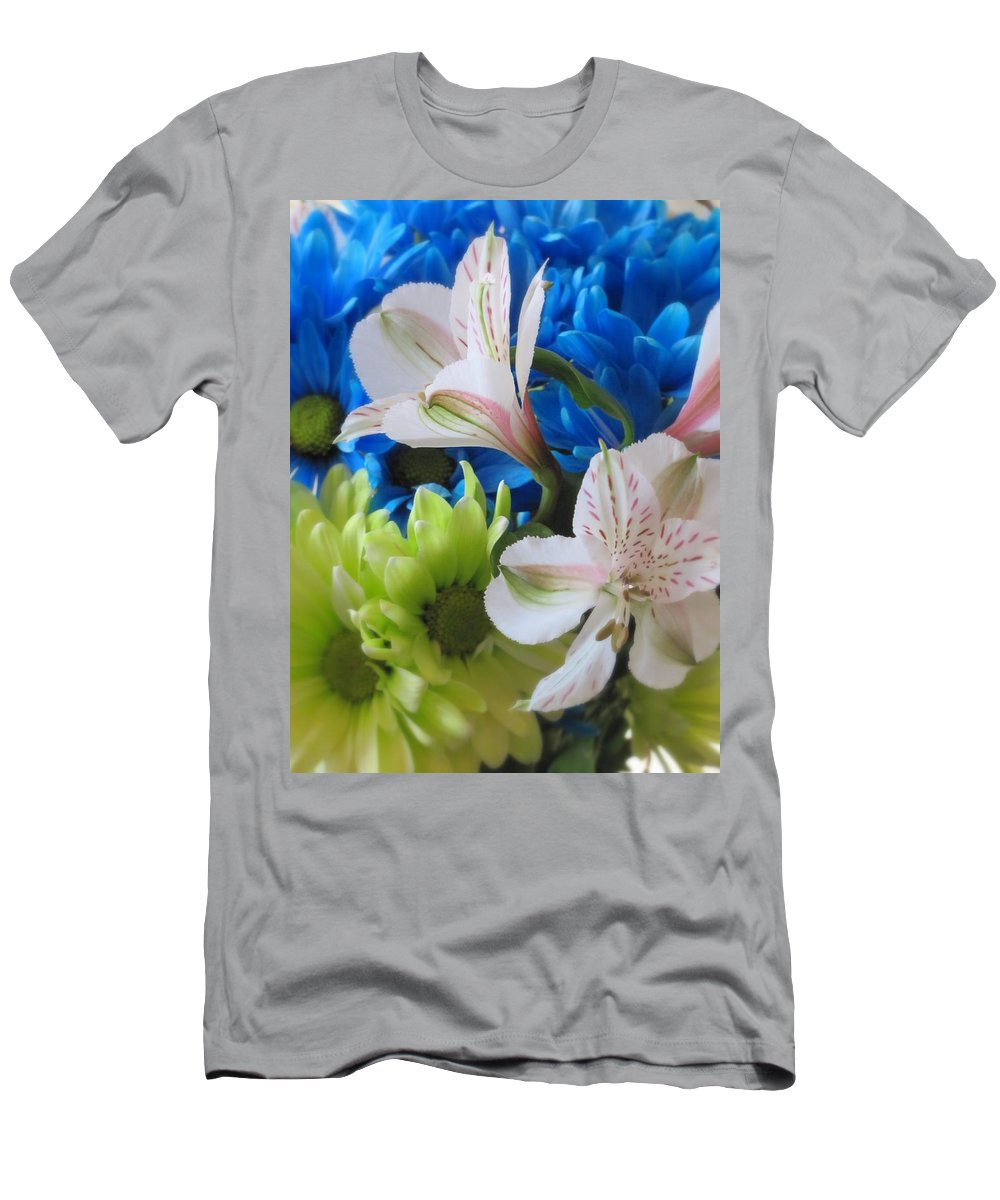 Flowers Men's T-Shirt (Athletic Fit) featuring the photograph Floral Bouquet 1 by Anita Burgermeister