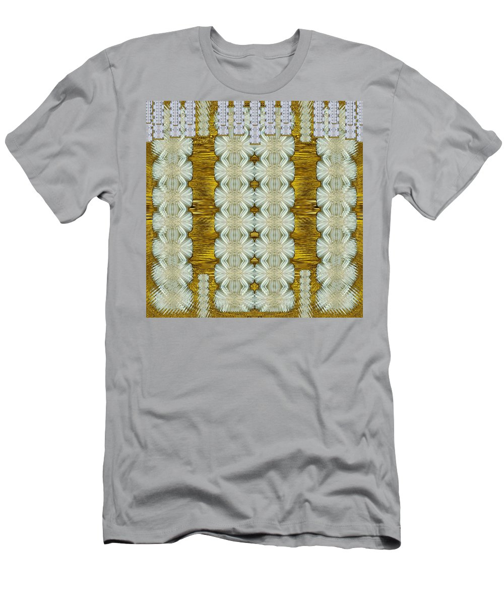 Floral Men's T-Shirt (Athletic Fit) featuring the mixed media Floral Forest Of Magic And Gold by Pepita Selles