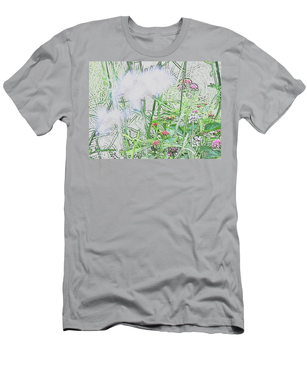 Abstract Men's T-Shirt (Athletic Fit) featuring the photograph Floral Sketch by BiR Fotos