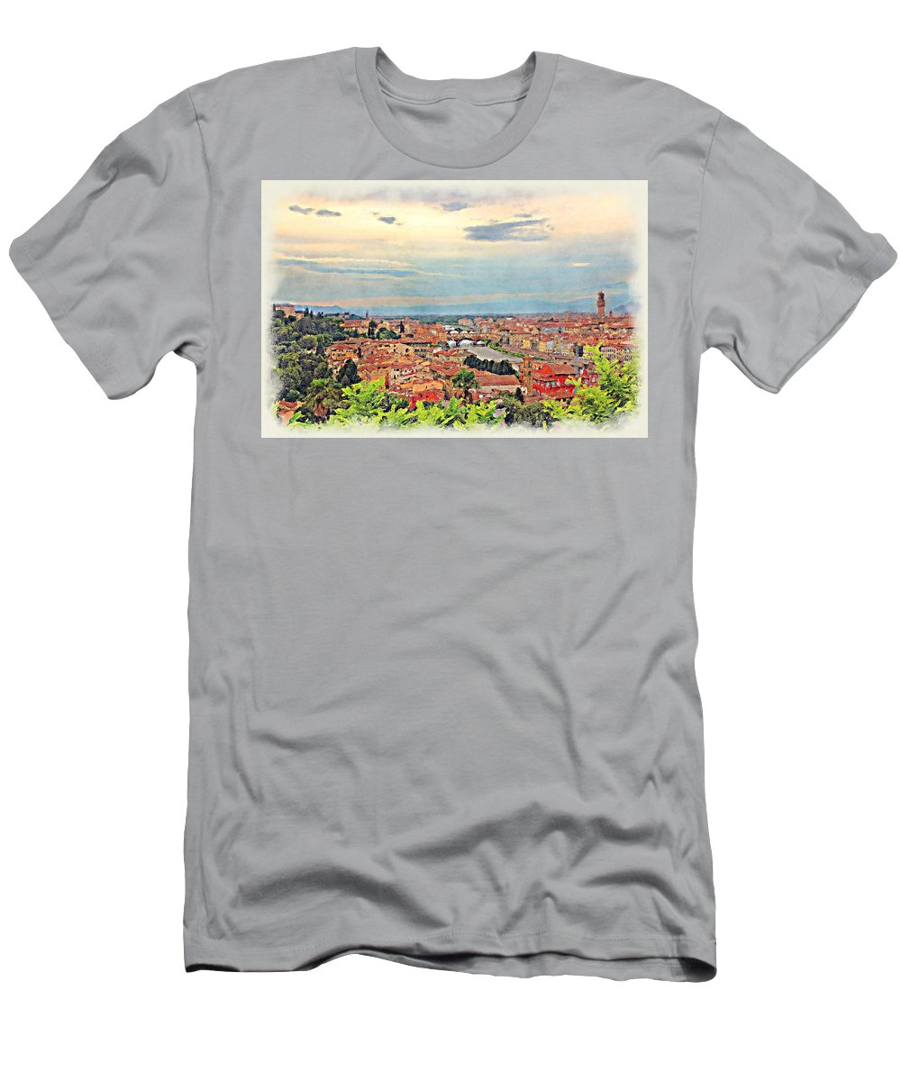 Landscape Men's T-Shirt (Athletic Fit) featuring the photograph Florence by Pedro Rossi