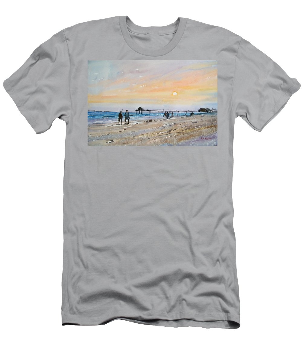 Landscape Men's T-Shirt (Athletic Fit) featuring the painting Florida Sunset by Ryan Radke