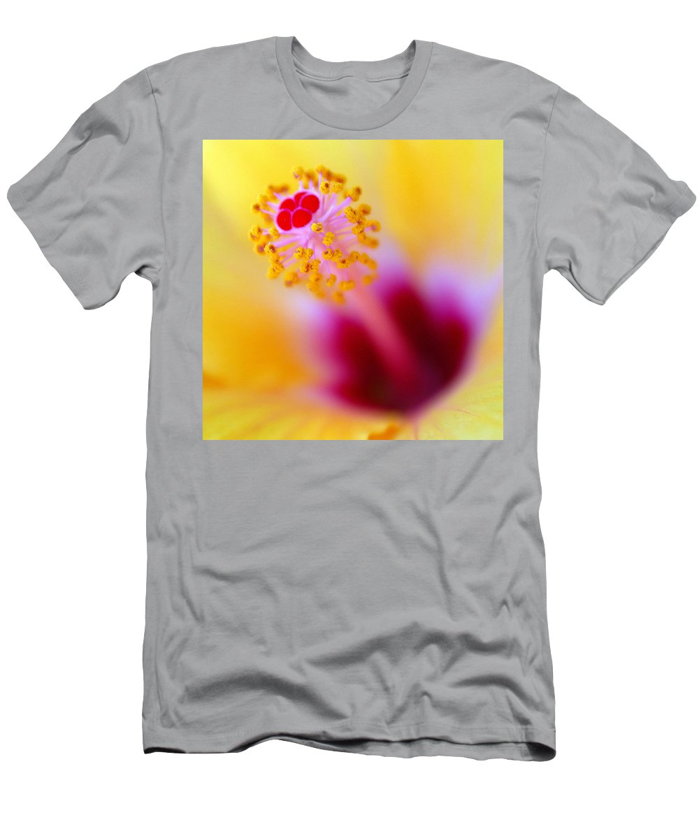 Flower Men's T-Shirt (Athletic Fit) featuring the photograph Flower - Stamen 2 by Jill Reger