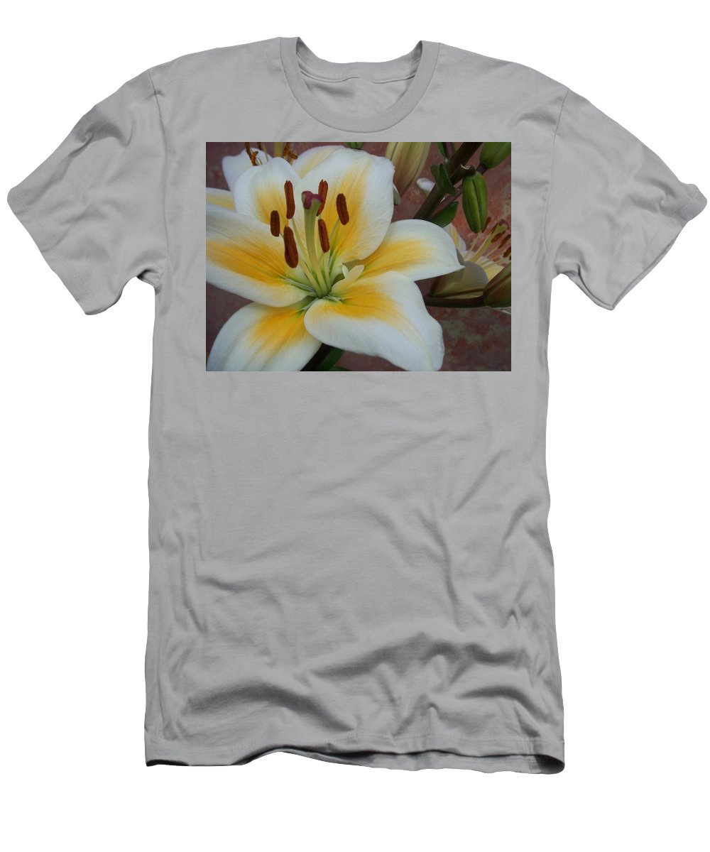 Flower Men's T-Shirt (Athletic Fit) featuring the photograph Flower Close Up 3 by Anita Burgermeister