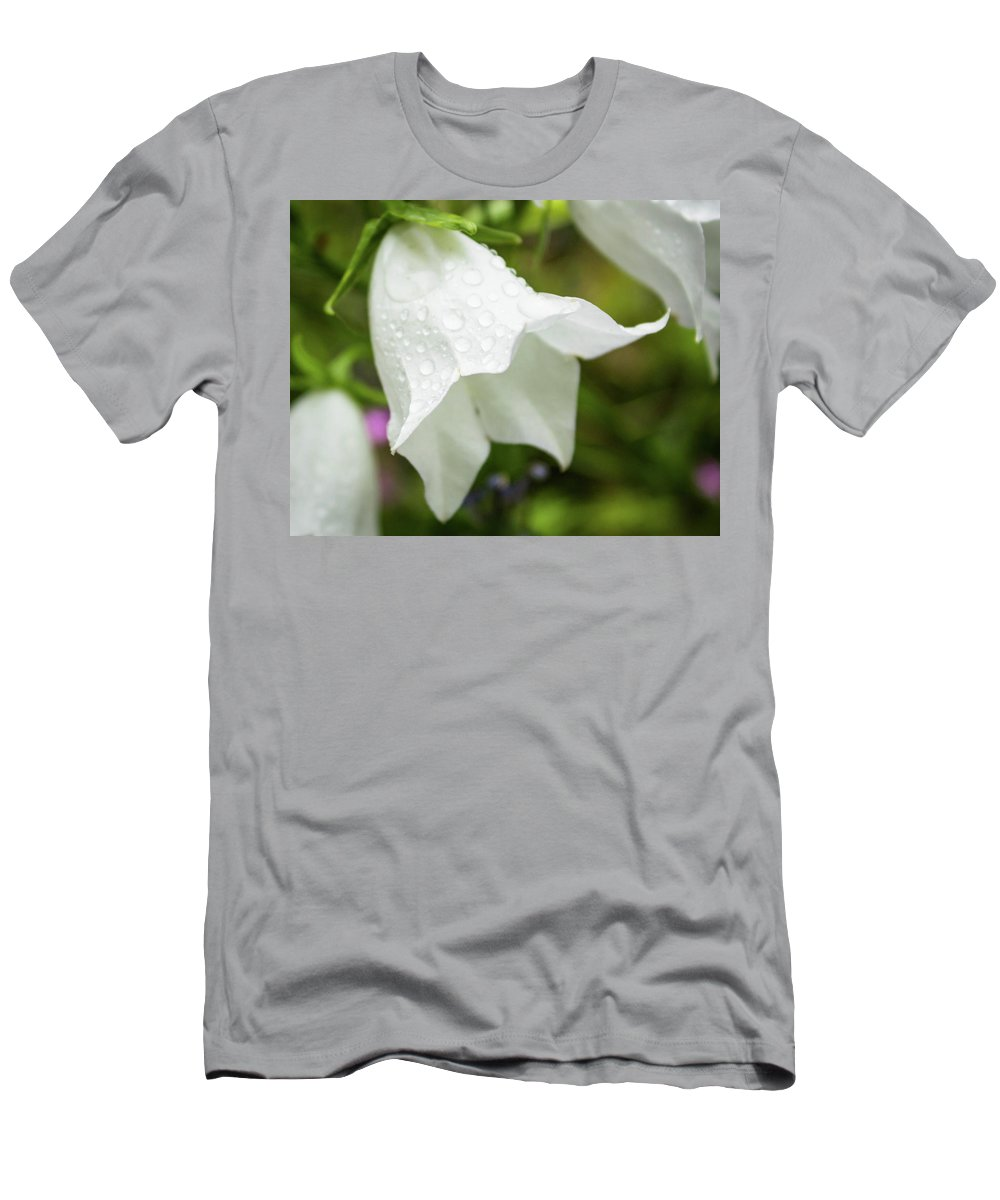 Flower Men's T-Shirt (Athletic Fit) featuring the photograph Flowers With Droplets 3 by Mark Denton