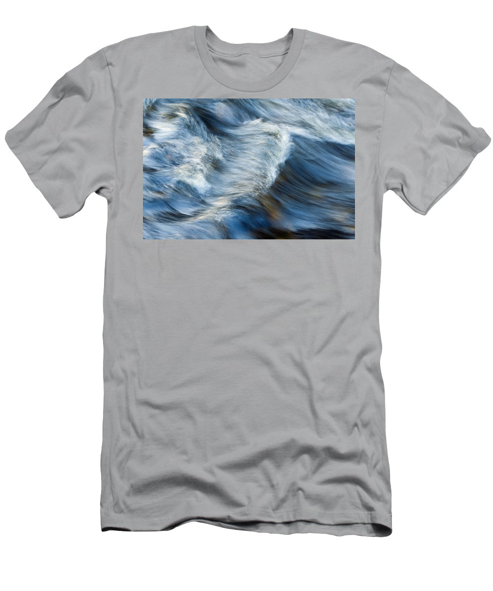 Abstract Men's T-Shirt (Athletic Fit) featuring the photograph Flowing River Water by Bill Brennan - Printscapes