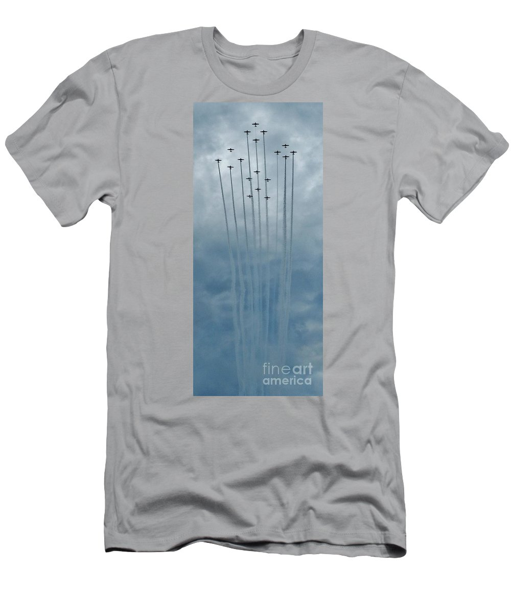 Fly Guy Formation Men's T-Shirt (Athletic Fit) featuring the photograph Fly Guy Formation by Snapshot Studio