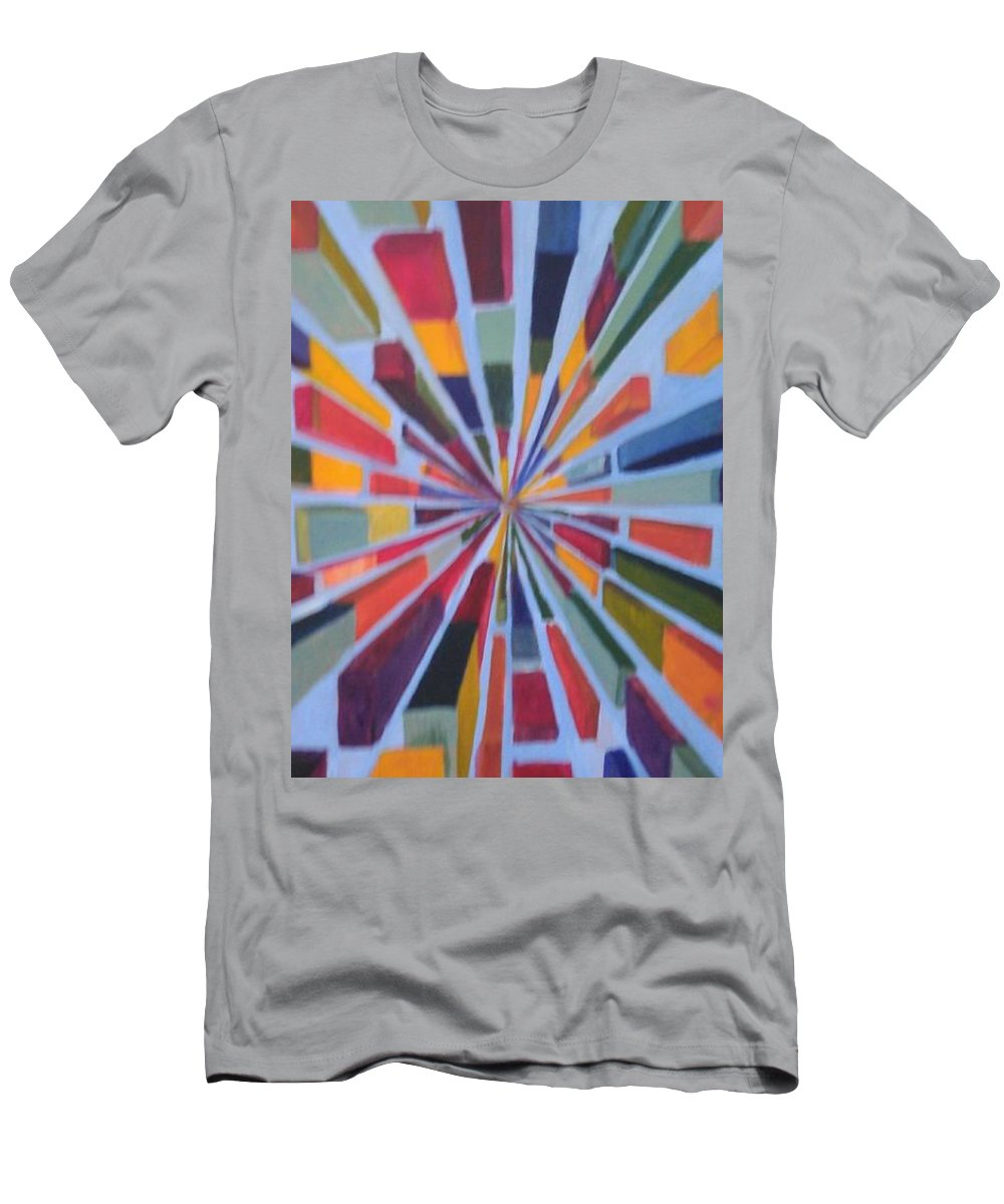 Non Representational Art T-Shirt featuring the painting Flying box by Andrew Johnson