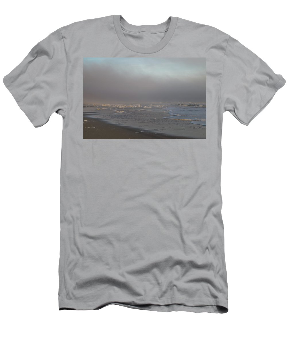 Beach Men's T-Shirt (Athletic Fit) featuring the photograph Foggy Foam by Gerald Monaco