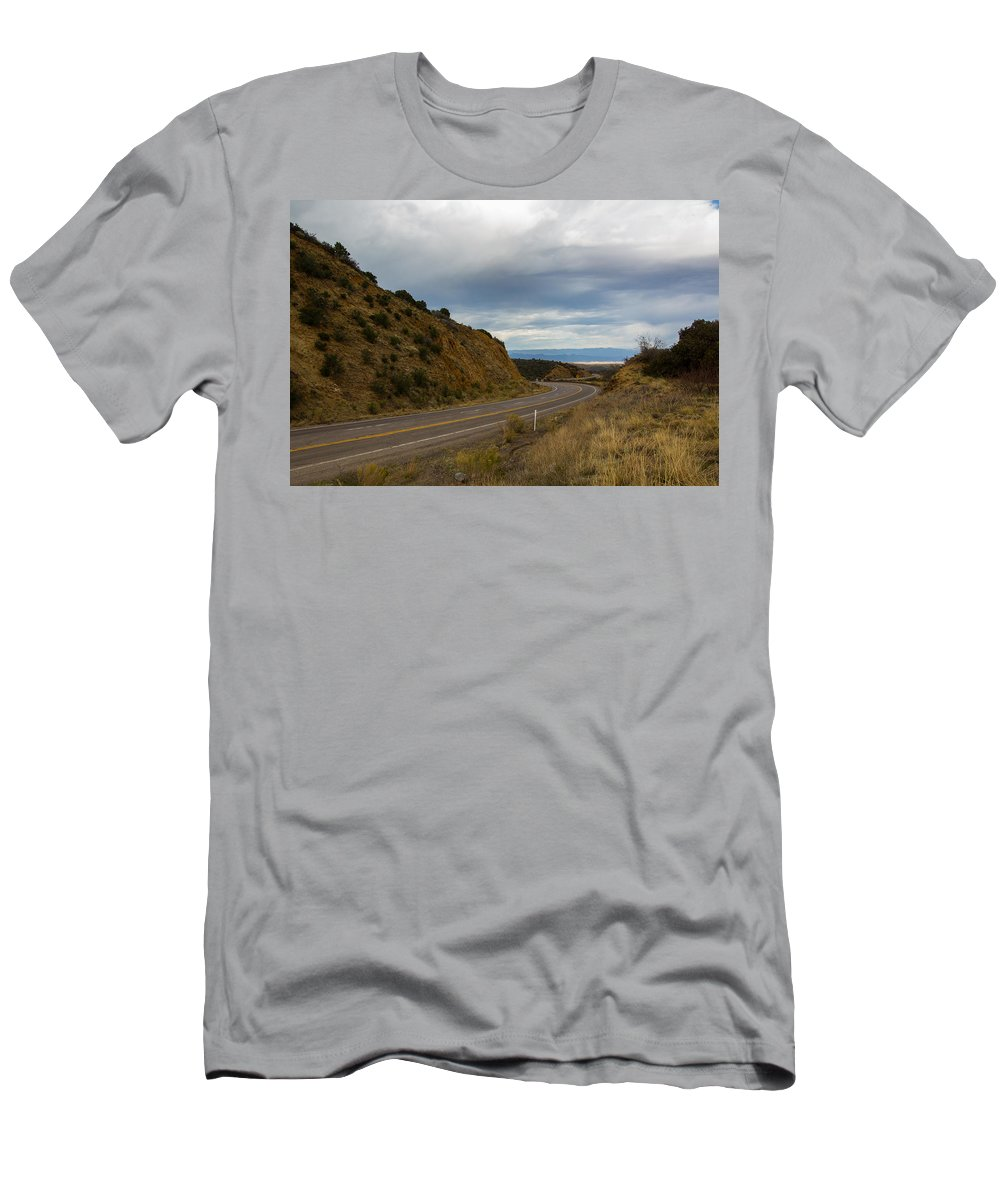 Arizona Men's T-Shirt (Athletic Fit) featuring the photograph Follow The Winding Road by Billy Bateman
