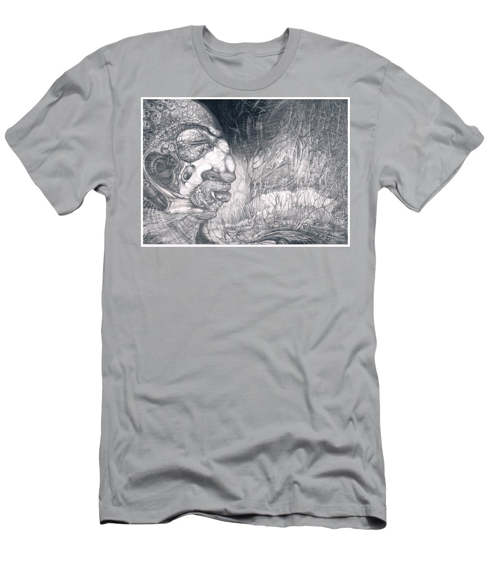 Fomorii Warrior T-Shirt featuring the drawing Fomorii Warrior by Otto Rapp