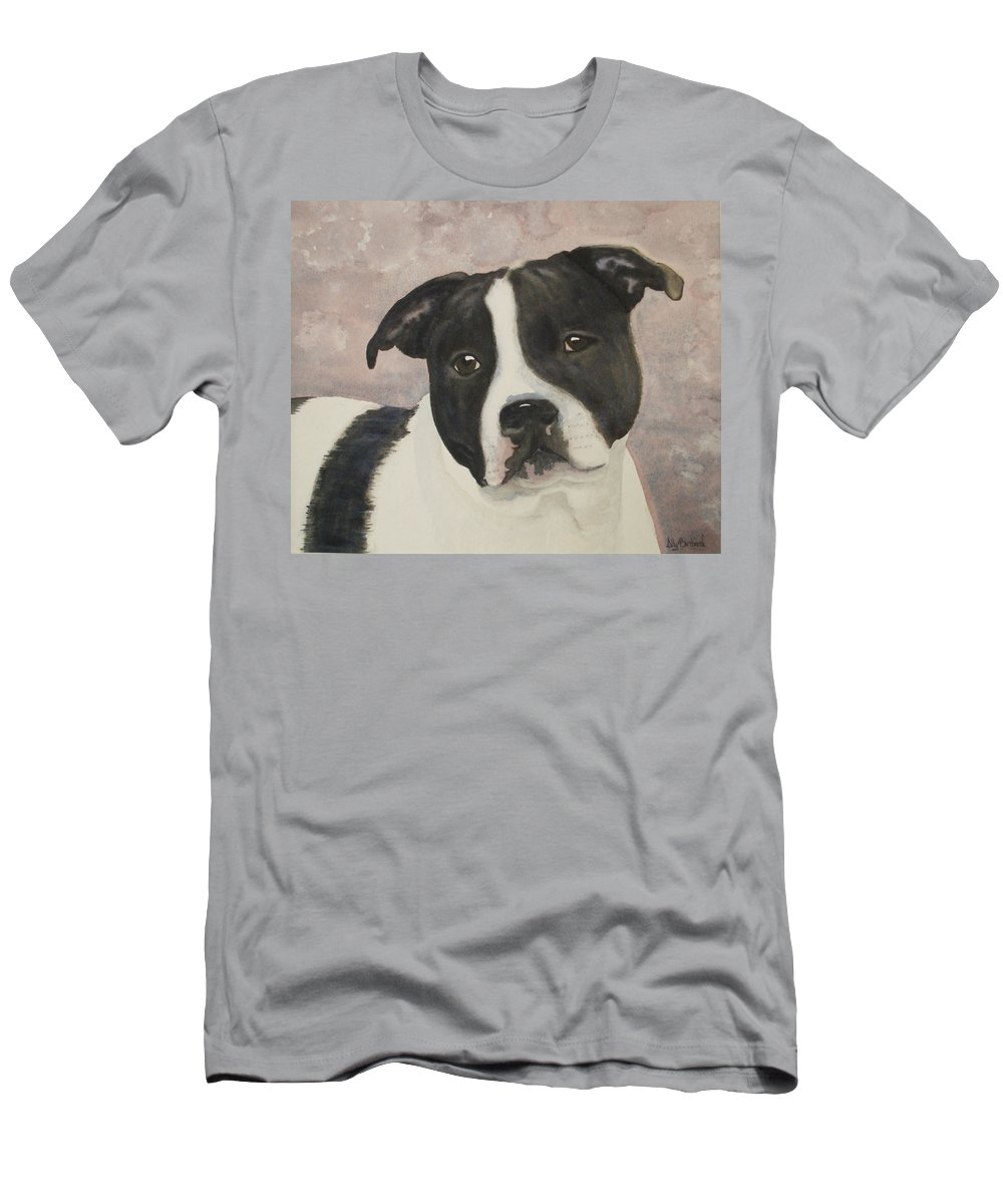 Dog Men's T-Shirt (Athletic Fit) featuring the painting For Me by Ally Benbrook