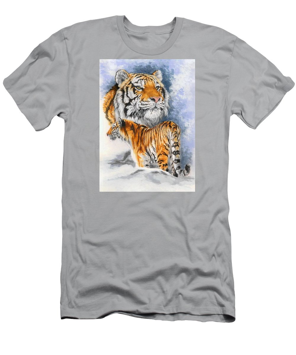 Big Cats T-Shirt featuring the mixed media Forceful by Barbara Keith
