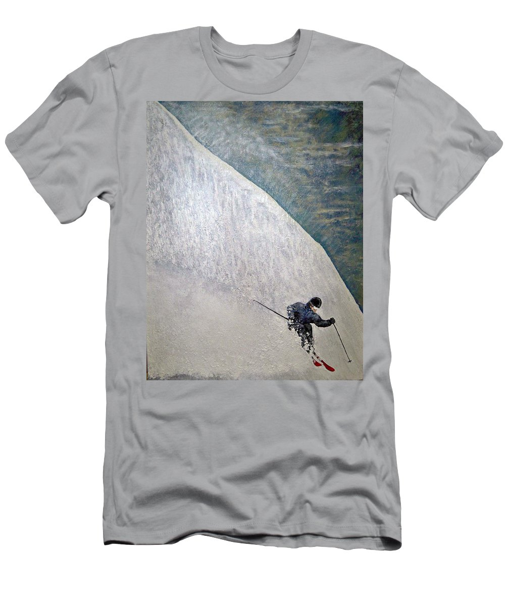 Landscape T-Shirt featuring the painting Form by Michael Cuozzo
