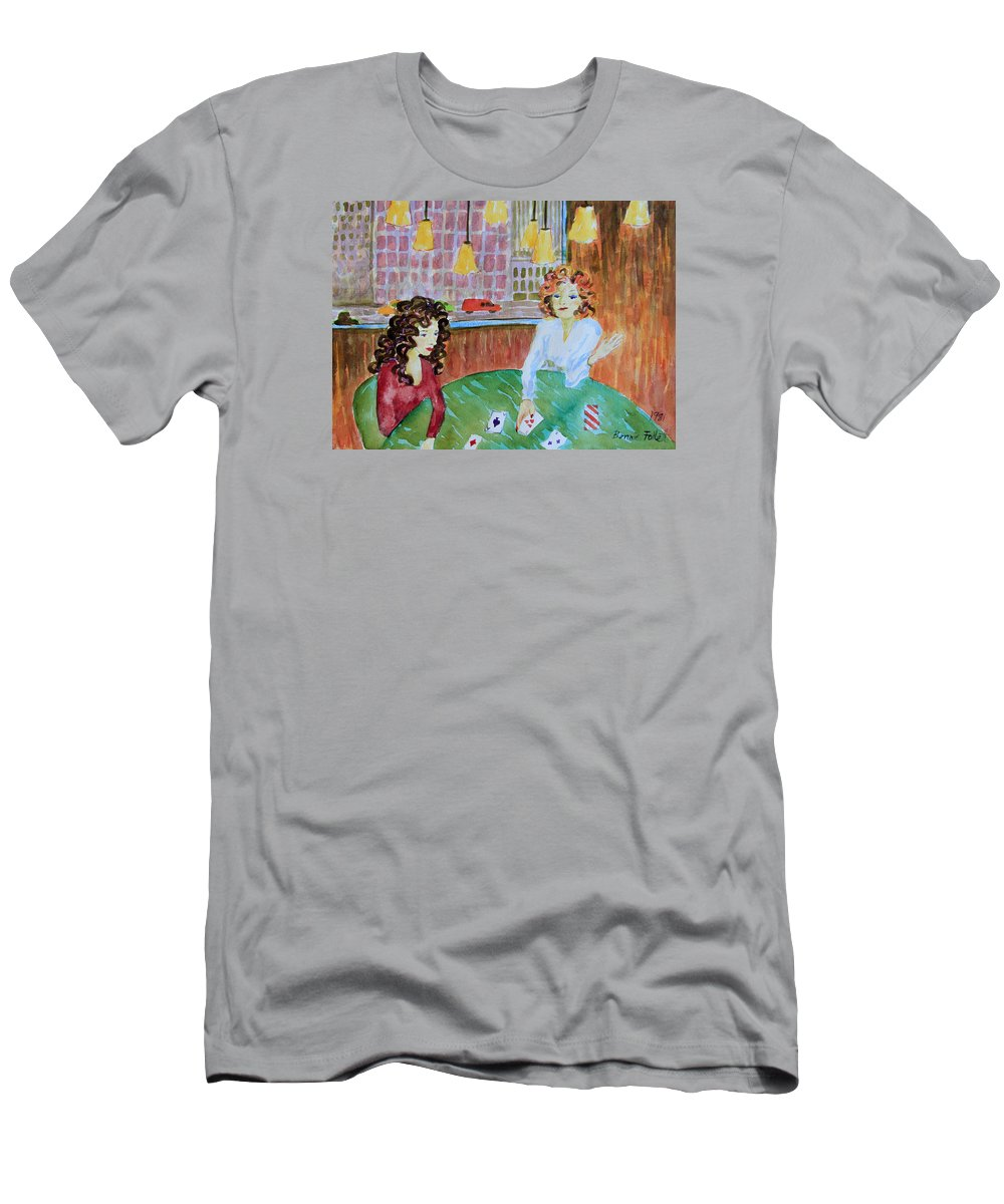 Bonnie Follett Men's T-Shirt (Athletic Fit) featuring the painting Fortune Teller by Bonnie Follett