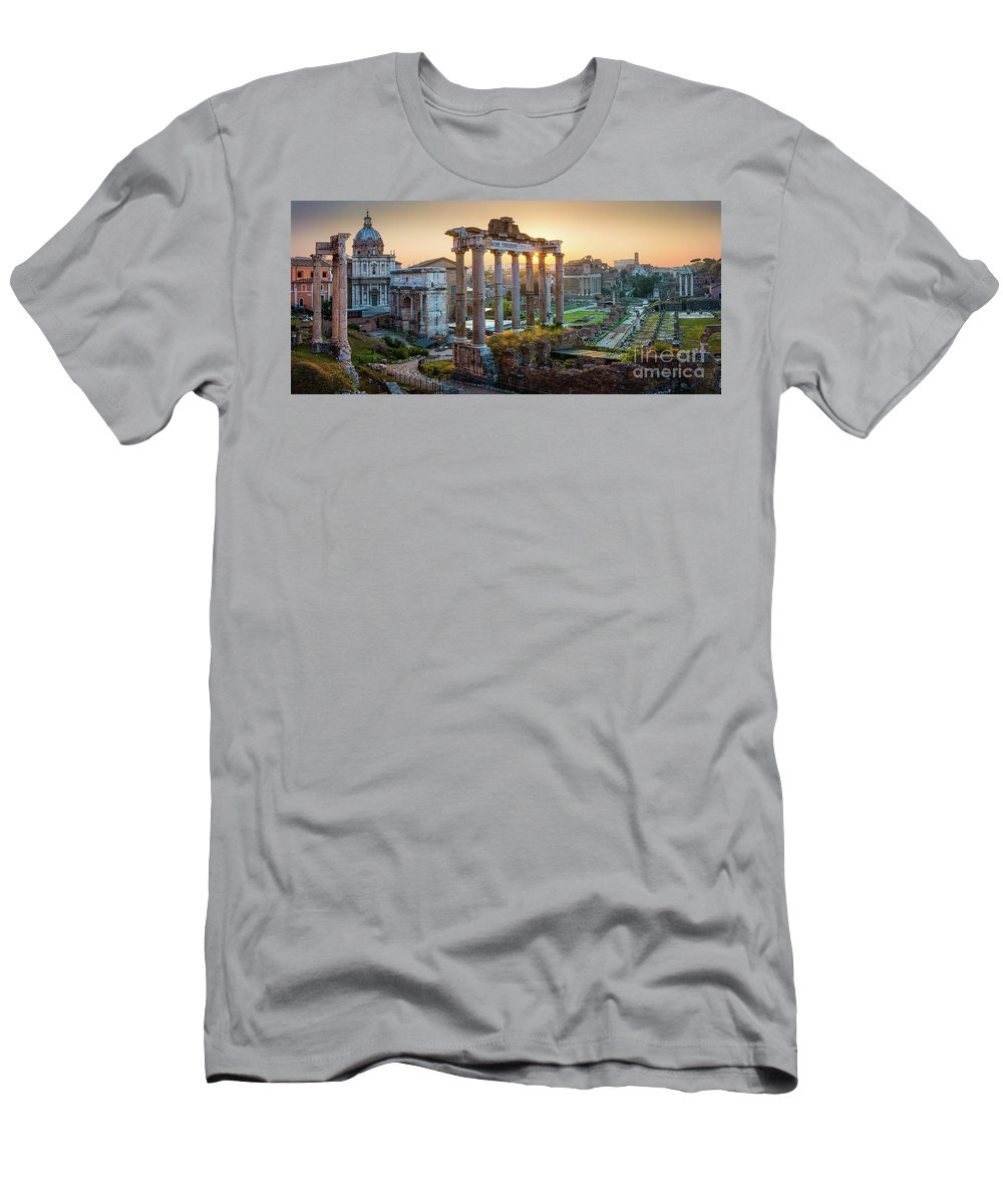 Europe T-Shirt featuring the photograph Forum Romanum Panorama by Inge Johnsson