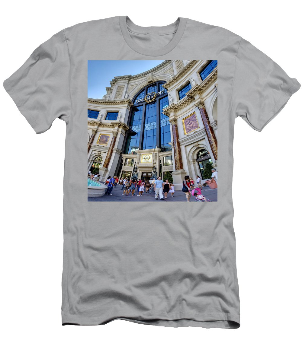 Forum Men's T-Shirt (Athletic Fit) featuring the photograph Forum Shops by Ricky Barnard
