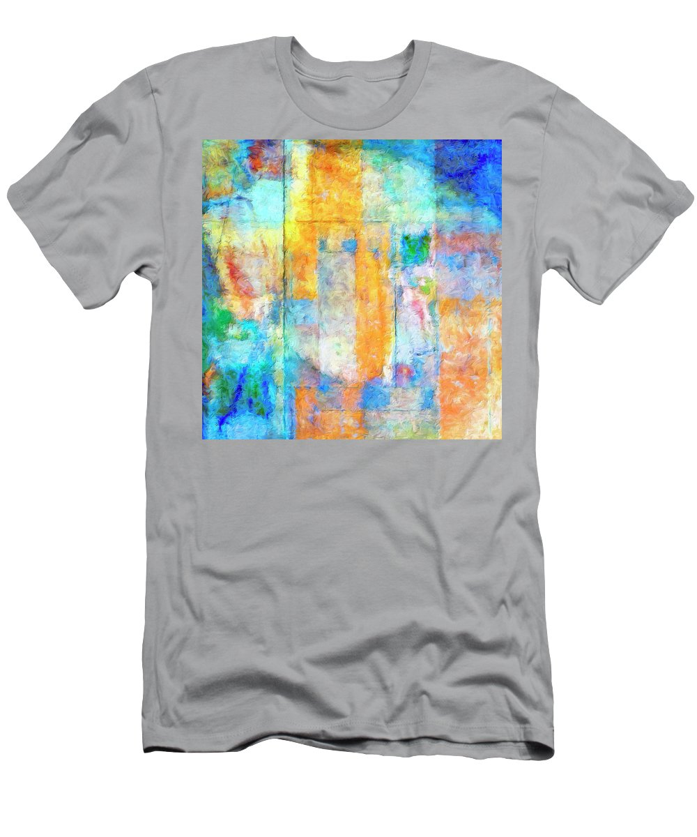 Abstract Men's T-Shirt (Athletic Fit) featuring the painting Foundation by Dominic Piperata